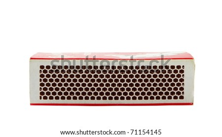 matches box isolated over white surface - stock photo