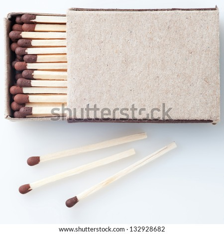 Matches in a box - stock photo