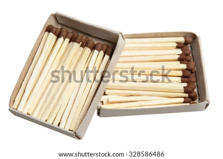Matches in a box it is isolated on a white background