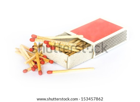 Matches on a white background. - stock photo