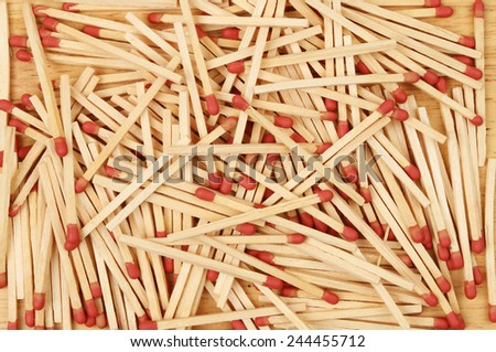 Matchsticks as a background and texture - stock photo