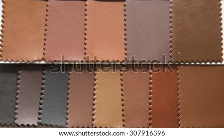 Material leather swatch - Sample material   - stock photo