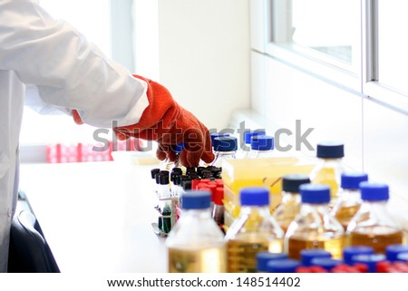 Materials of laboratory - stock photo