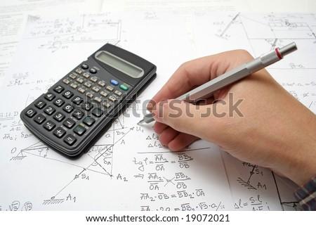 math - stock photo