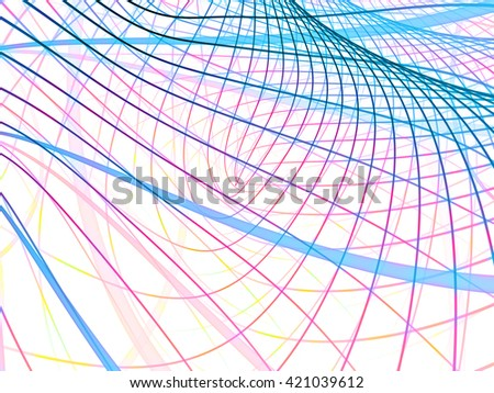 Math Lines Series. Intricate line pattern for science and technology projects. - stock photo
