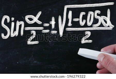 math on blackboard - stock photo