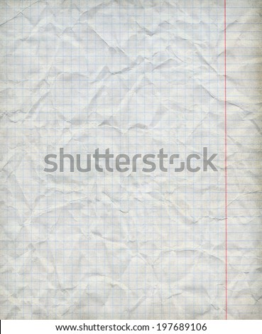 Math paper squared background - Closeup. - stock photo