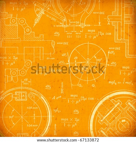 Mathematical background - stock photo