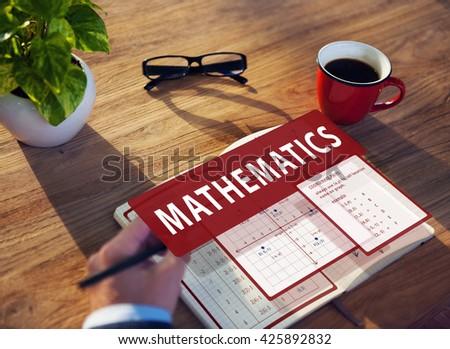 Mathematics Equation Calculate Algebra Function Concept - stock photo