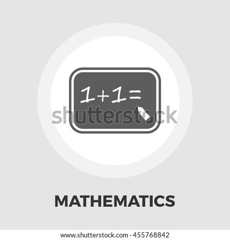 Mathematics flat icon isolated on the white background. - stock photo