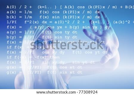 Mathematics formula - stock photo