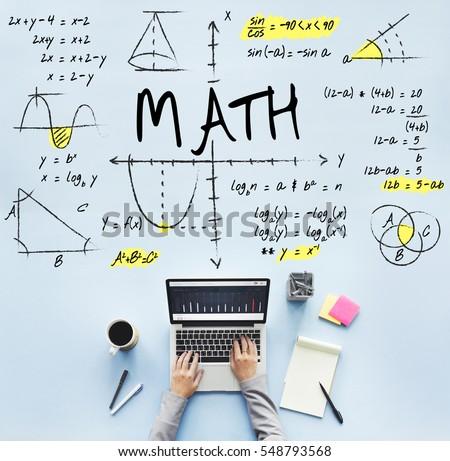 Mathematics Math Algebra Calculus Numbers Concept Stock Photo ...