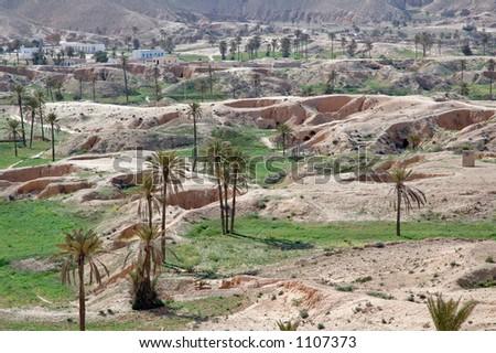 Matmata and the troglodyte dwellings (South Tunisia) - stock photo