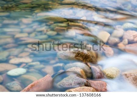 Matoushang creek in Fuzhou Zixi county,Jiangxi Province - stock photo