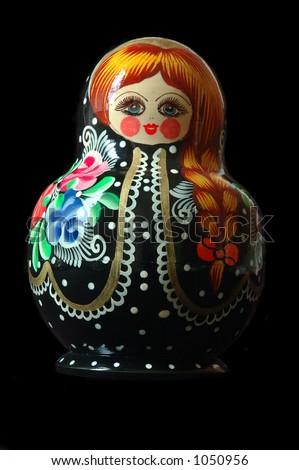 Matriochka - Original Turkmen Nesting Dolls - stock photo