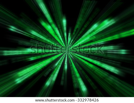Matrix background in the form of star burst. - stock photo