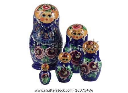 matrushka dolls - stock photo