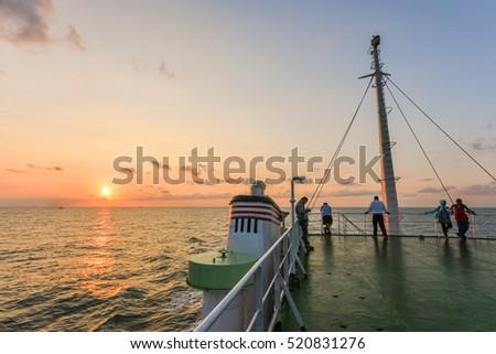 on the deck thessalonikis beautiful sunsets stock photo 612464867 shutterstock