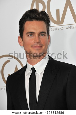 Matt Bomer at the 2013 Producers Guild Awards at the Beverly Hilton Hotel. January 26, 2013  Los Angeles, CA Picture: Paul Smith