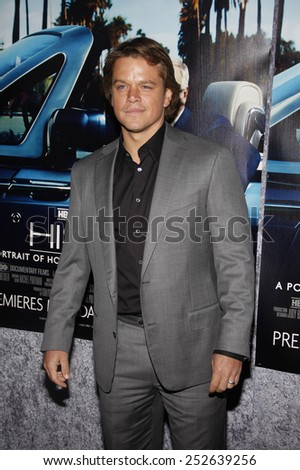 "Matt Damon at the Los Angeles Premiere of ""His Way"" held at the Paramount Pictures Studios in Los Angeles in Los Angeles, California, United States on March 22, 2011."