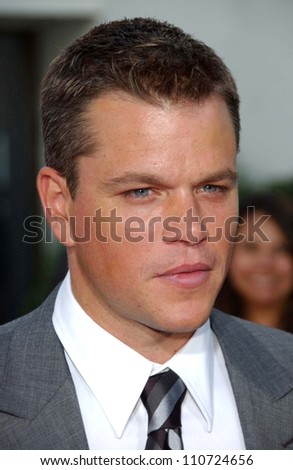 "Matt Damon at the world premiere of ""The Bourne Ultimatum"" Arclight Cinemas, Hollywood, CA. 07-25-07 - stock photo"