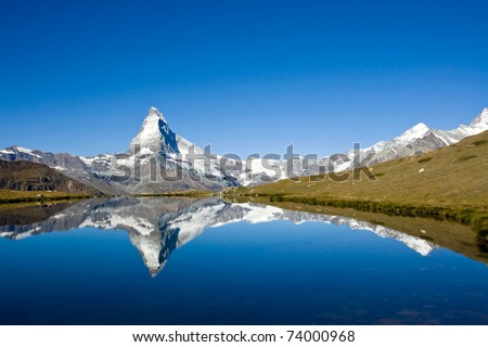 Matterhorn in the swiss alps - stock photo
