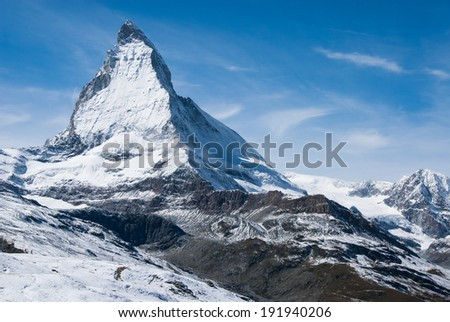 Matterhorn on clear blue sky day