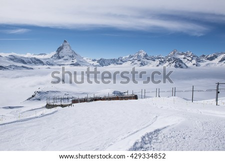 Matterhorn peak in the background, Zermatt, Switzerland