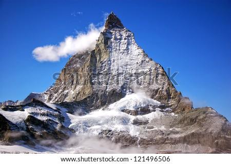 Matterhorn Peak, Swiss Alps, Europe - stock photo