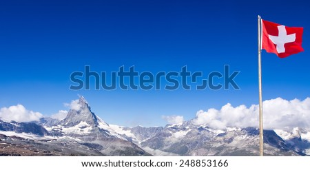 Matterhorn peak, Switzerland - stock photo