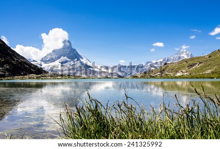 Matterhorn reflecting in the lake, Switzerland