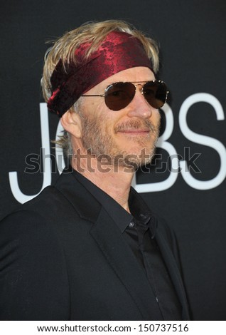 "Matthew Modine at the Los Angeles premiere of his movie ""Jobs"" at the Regal Cinemas LA Live. August 13, 2013  Los Angeles, CA - stock photo"