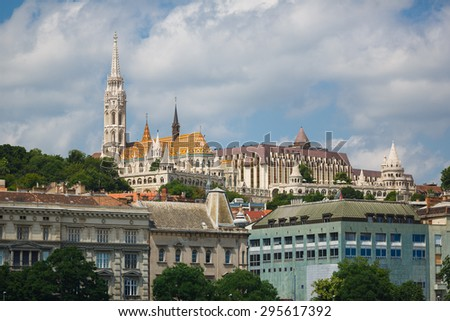 Matthias church in Budapest at summer time