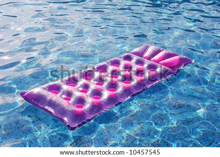 Mattress in pool