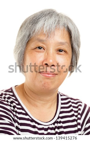 mature asian woman smile