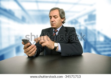 mature business man working on a desk