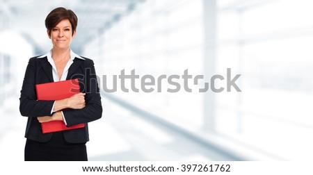 Mature business woman. - stock photo