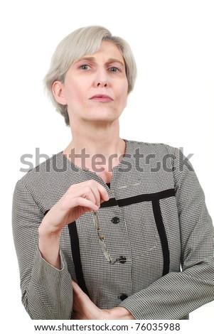 Mature business woman - stock photo