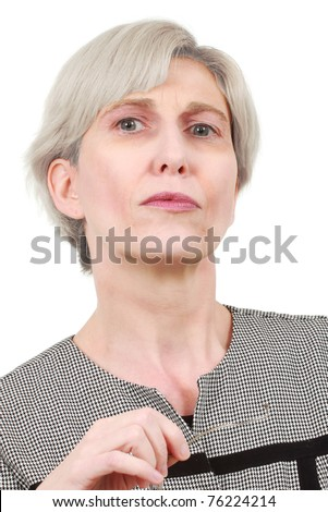 Mature business woman with glasses - stock photo