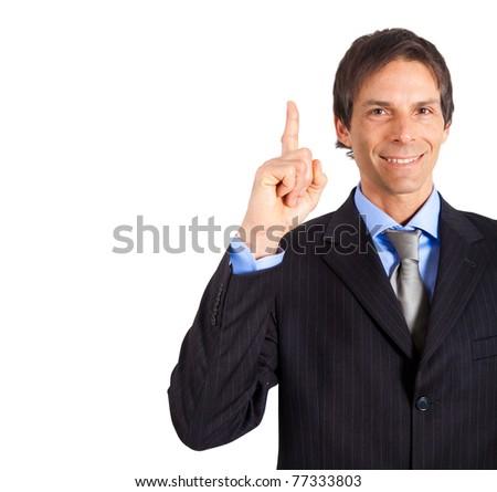 Mature businessman having great idea - stock photo