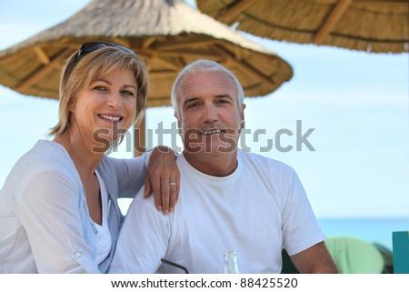 Mature couple on holiday - stock photo