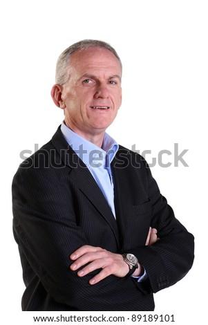 Mature, experienced businessman - stock photo