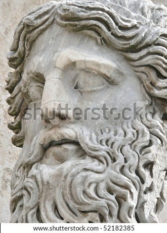 mature man head closeup, campidoglio, rome, italy. More of this motif & more Rome in my port