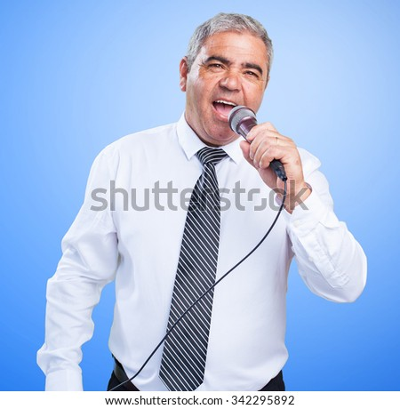 mature man singing