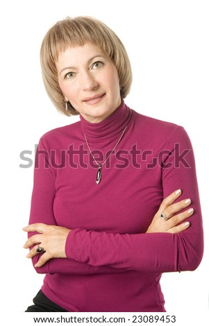 Mature middle-aged woman - stock photo