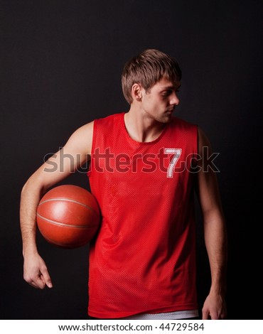mature playing basketball - stock photo