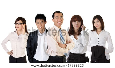 Mature successful business man with his young team partner. - stock photo