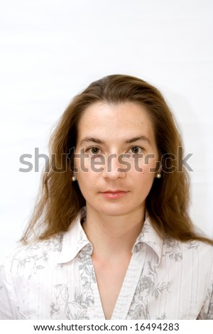 mature woman attractive young girl front formal portrait - stock photo