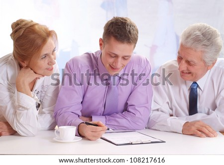 Matures and young guy, working in very different fields of activity - stock photo