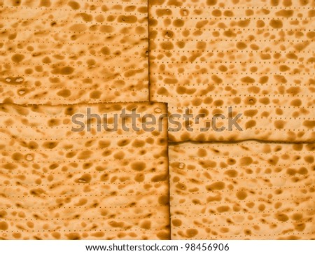 Matzah background. the matzah bread is eaten during the Jewish holiday of passover